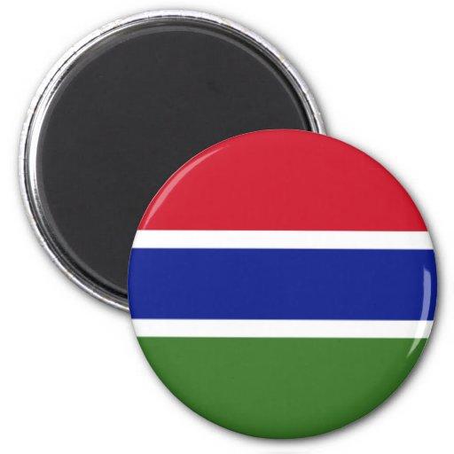 Bandera de la Gambia Imán Para Frigorifico