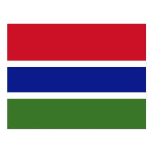 Bandera de la Gambia Postales