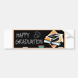 Bandera de la graduación pegatina para auto