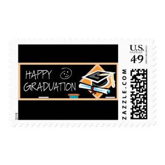 Bandera de la graduación sellos postales