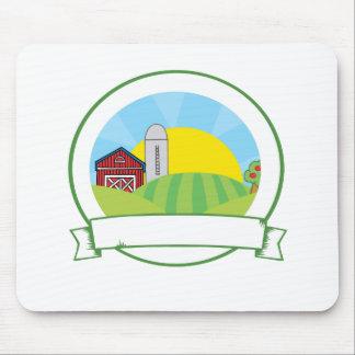 Bandera de la granja del país alfombrillas de ratón
