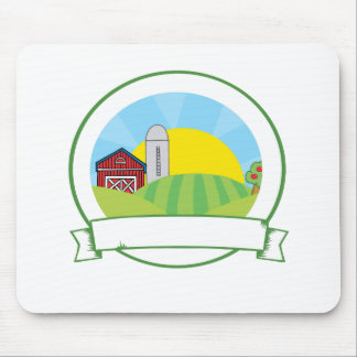 Bandera de la granja del país tapetes de ratones