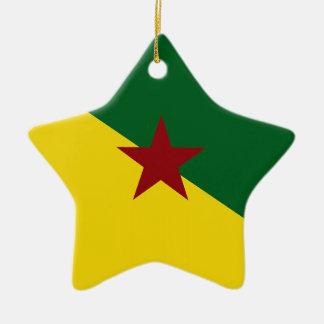 Bandera de la Guayana Francesa Adorno De Cerámica En Forma De Estrella