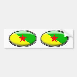 Bandera de la Guayana Francesa en el óvalo de Pegatina Para Auto
