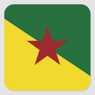 Bandera de la Guayana Francesa Pegatina Cuadrada