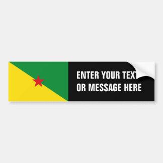 Bandera de la Guayana Francesa Pegatina Para Auto