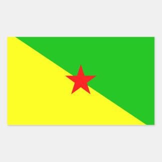 Bandera de la Guayana Francesa Pegatina Rectangular