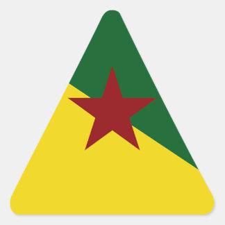 Bandera de la Guayana Francesa Pegatina Triangular
