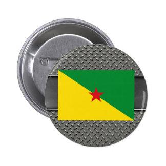 Bandera de la Guayana Francesa Pin Redondo 5 Cm