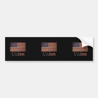 Bandera de la guerra civil de los E.E.U.U. del Pegatina Para Auto