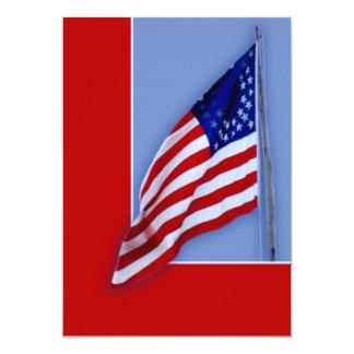 """Bandera de la guerra civil invitación 5"""" x 7"""""""