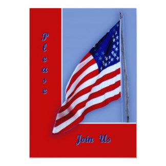 Bandera de la guerra civil invitación 12,7 x 17,8 cm