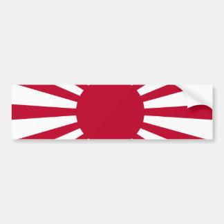 Bandera de la guerra del sol naciente del ejército pegatina para auto