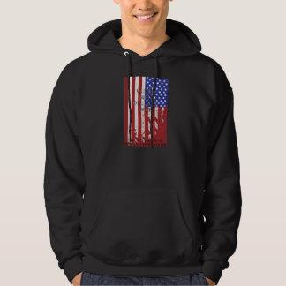 Bandera de la guerra jersey encapuchado