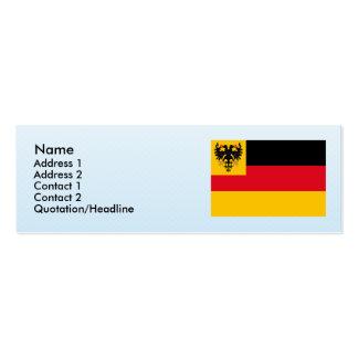 Bandera de la guerra la marina de guerra alemana 1 plantilla de tarjeta de visita