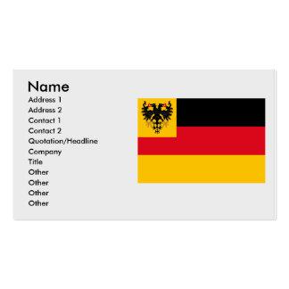 Bandera de la guerra la marina de guerra alemana 1 tarjetas de visita