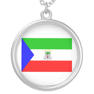 Bandera de la Guinea Ecuatorial Colgante Redondo