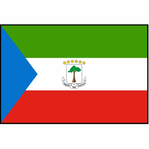Bandera de la Guinea Ecuatorial Esculturas Fotográficas