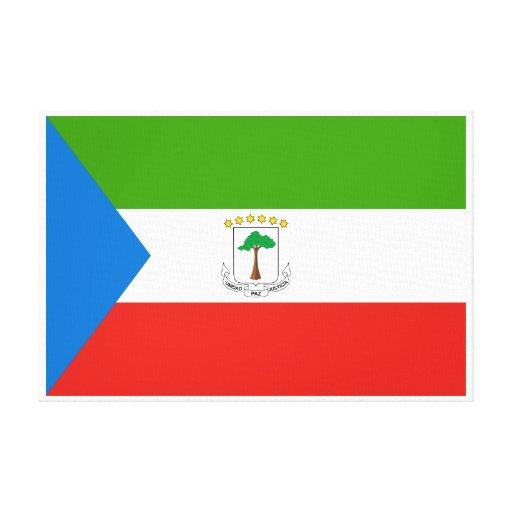 Bandera de la Guinea Ecuatorial Lienzo Envuelto Para Galerías