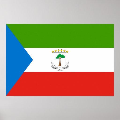 Bandera de la Guinea Ecuatorial Poster
