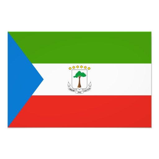 Bandera de la Guinea Ecuatorial Foto