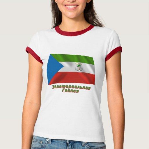Bandera de la Guinea Ecuatorial que agita con Playera