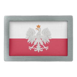Bandera de la hebilla del cinturón blanca de Polon Hebilla Cinturon Rectangular