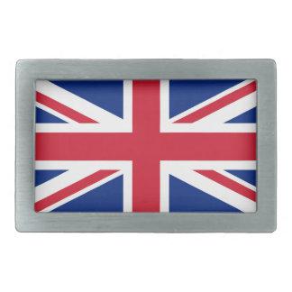 Bandera de la hebilla del cinturón de Reino Unido Hebilla De Cinturón Rectangular