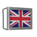 Bandera de la hebilla del cinturón de Reino Unido Hebilla Cinturon Rectangular