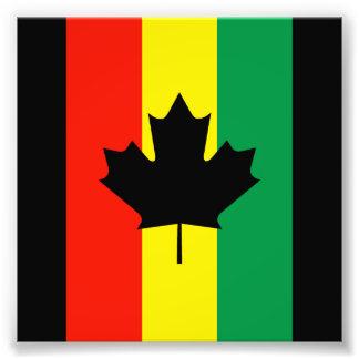 Bandera de la hoja de arce del reggae de Rasta Fotografía