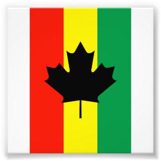 Bandera de la hoja de arce del reggae de Rasta Fotografías