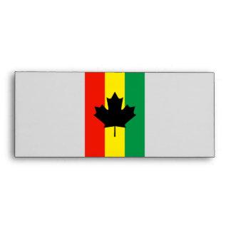 Bandera de la hoja de arce del reggae de Rasta
