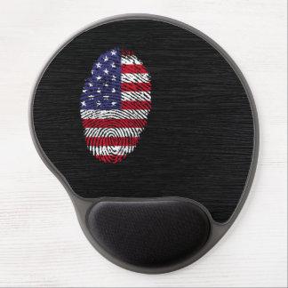 Bandera de la huella dactilar del tacto de los alfombrillas de raton con gel