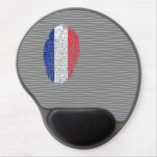 Bandera de la huella dactilar del tacto del alfombrilla con gel