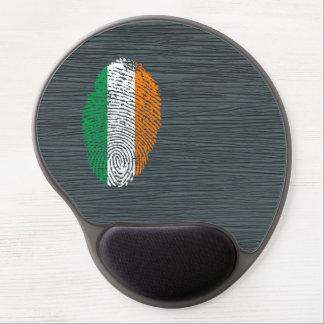 Bandera de la huella dactilar del tacto del alfombrilla de raton con gel