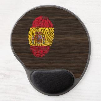 Bandera de la huella dactilar del tacto del alfombrilla de ratón con gel