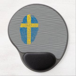 Bandera de la huella dactilar del tacto del sueco alfombrilla con gel