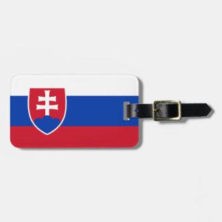 Bandera de la identificación fácil de Eslovaquia p Etiquetas Para Equipaje