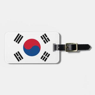 Bandera de la identificación fácil de la Corea del Etiquetas Maletas