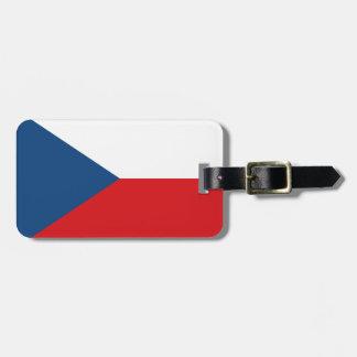 Bandera de la identificación fácil de la República Etiquetas Maletas
