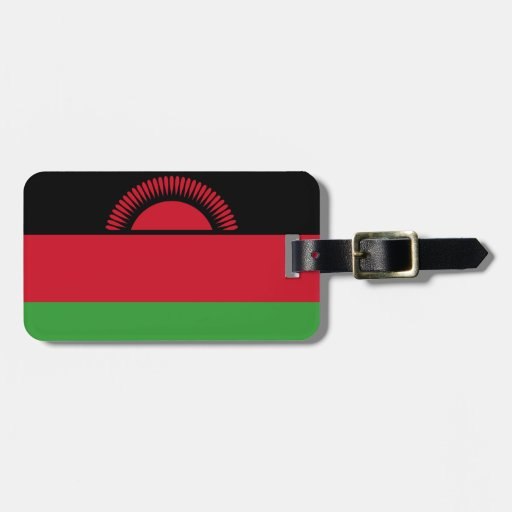 Bandera de la identificación fácil de Malawi Etiqueta De Equipaje