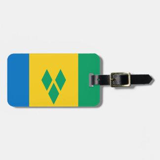 Bandera de la identificación fácil de Vincent de s Etiqueta Para Maleta