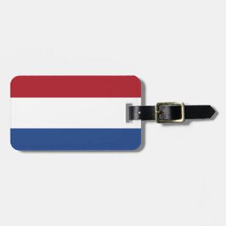 Bandera de la identificación fácil holandesa perso etiquetas para maletas