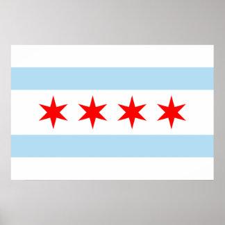 Bandera de la impresión de Chicago Póster