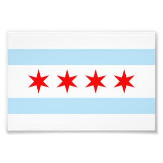 Bandera de la impresión de la foto de Chicago Cojinete
