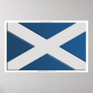 Bandera de la impresión h-Alba del na del nàiseant Poster