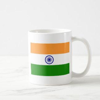 Bandera de la India. Bharat Ganrajya Taza Básica Blanca