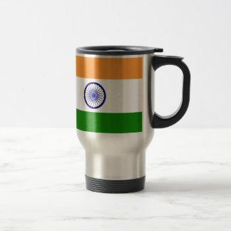 Bandera de la India. Bharat Ganrajya Taza De Viaje De Acero Inoxidable
