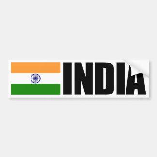 Bandera de la India Etiqueta De Parachoque
