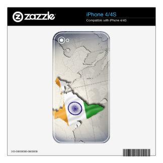 Bandera de la India Calcomanías Para El iPhone 4